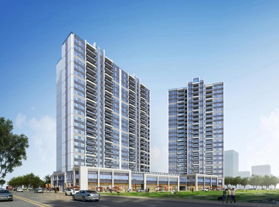 阳山江滨项目地下车库、1号楼、2号楼